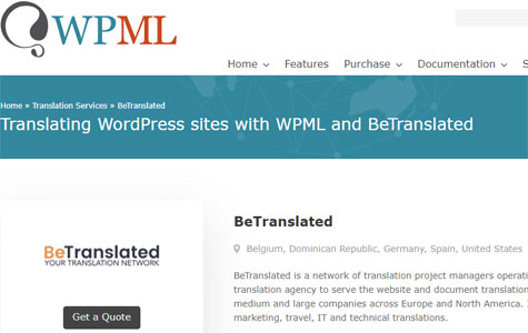 wordpress BeTranslated